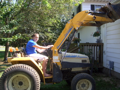 Cleanup -- Rach and the tractor